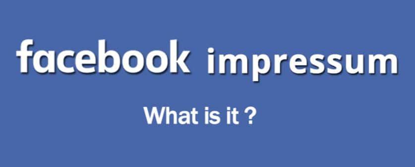 Impressum Facebook in hindi