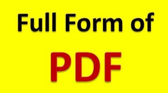 pdf full form in hindi