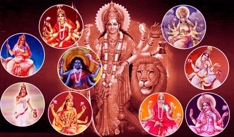 Maa Durga images with Navratri wallpaper