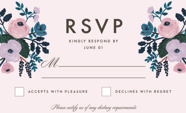 rsvp full form in invitation card in hindi