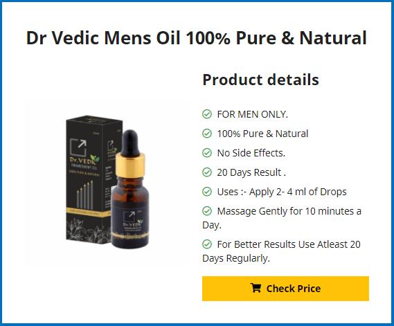 Dr Vedic Mens Oil